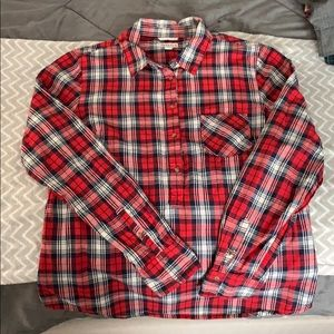 XL Merona Plaid Long Sleeve Shirt